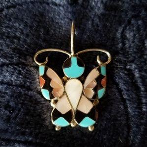 Zuni Butterfly Pendant